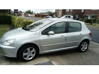 PEUGEOT 307 HDI SE FOR SPARES OR REPAIRS LOW MILEAGE FOR YEAR