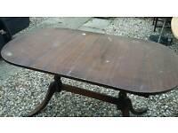 Mahogany wood table