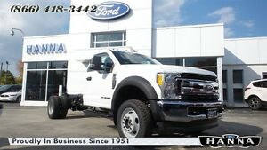 2017 Ford F-550 CHASSIS CAB REGULAR CAB CHASSIS CAB XLT 4X4 6.7L