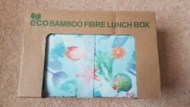 Bamboo Eco-Friendly fibre lunchbox - Brand New
