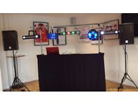 4ft Ultimax DJ Stand with overhead and front curtain, Comes with bag