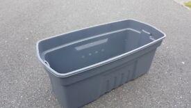 Extra Large Black Plastic Storage box. Internal 93 x 35 x 43cm approx
