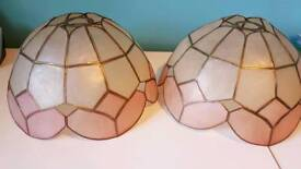Two tiffany style lampshades