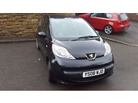 Peugeot 107 Urban, 2008, 3 door, black, 48000 miles