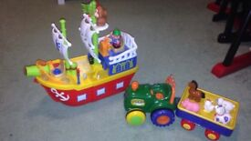 Tractor and pirate ship