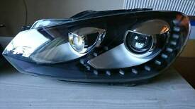 Volkswagen golf 6 headlamps upgrade to 7th version. Led daylights + xenon
