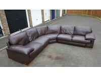 Barker & stonehouse leather corner sofa.Stunning.