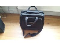 Samsonite Black Heavy Duty Rolling 17 inch Laptop Bag Briefcase