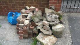 old bricks and rocks