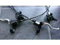 Hope mono mini front and rear hydraulic mountain bike brakes