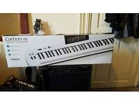 Samson carbon 61 key Usb Midi controller keyboard semi weighted velocity sensitive