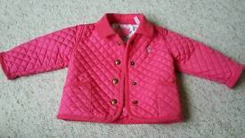 Joules 3-6 months coat pink excelllent condition