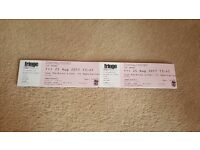 Selling 2 Tickets for Sold out Sue Perkins Fringe Show Fri 25th August