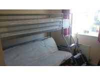 Joseph (TM) High Sleeper with Fold-down Double Sofa Bed - Mattress and Futon Included