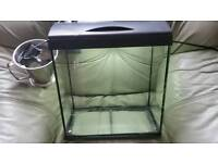 very good condition fish tank with light cleaner pump is very good size