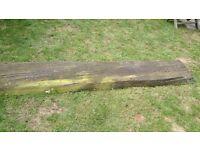 Railway sleeper bench