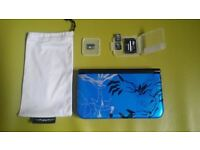 16GB Nintendo 3DS XL Pokemon X and Y Blue Limited Edition Console with Ultra Sun Moon Majora`s Mask