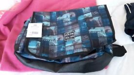 brand new blue messenger bag/ over shoulder bag