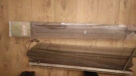 2x Brown Hardwood Blinds 105 x 152cm