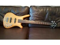 Warwick Corvette Short Scale Bass - Natural Finish