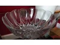 Cut glass crystal salad fruit trifle xmas serving bowl