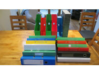 Selection of Ring Binders and Stationery Storage Boxes