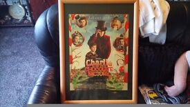 willy wonka posters x2