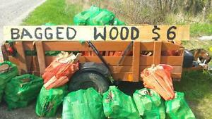 Bagged firewood and Kindling