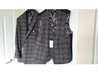 New male jacket waistcoat trouser shirt outfit