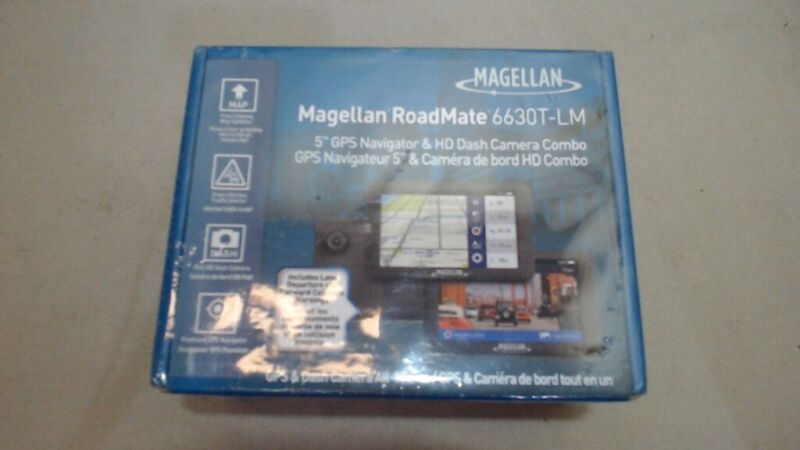 "Magellan RoadMate 6630T-LM 5"" Touch Car Vehicle GPS With FHD built-in Dash Cam,"