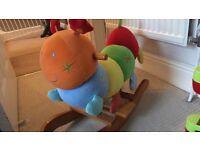 Charlie caterpillar, sensory rocking toy
