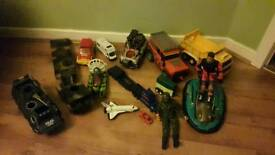 Bundle of boys toys vehicles action man etc