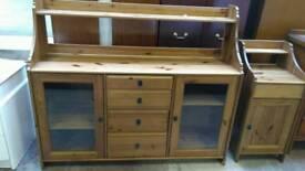 Large pine kitchen unit