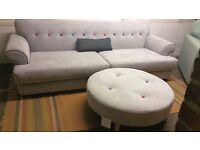 Orbit Four seater Sofa & Footstool