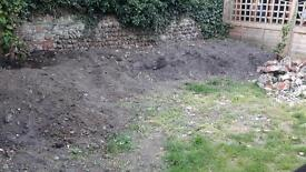 Free lots of top soil, turf and bricks(willing to pay someone to dig it all up and take away)