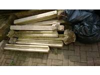 Concrete posts 4ft used £30 for all 9