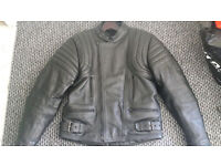 JTS Leather Jacket and Trousers Biker Set
