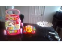 infant walker and learning toys