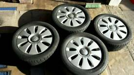 Set of Audi Alloys - Fit A3 A4 - With winter tyres - Bargain