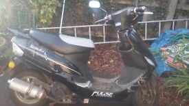 2013 pulse scout 50 cc moped mot just expired