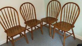 4 farmhouse look chairs...