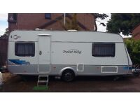 TEC TRAVEL KING 535 TE 4 berth fixed optional fixed bed 2007 from hymer