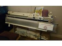 Brother 260 chunky knitting machine and ribber