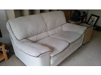 Good Quality 2 person sofa, CAS Loveseat, cream-beige
