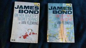 Ian Fleming 007 bond paperbacks for sale x2