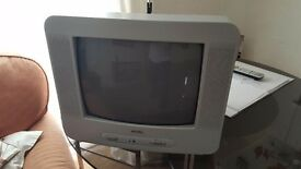 AWIA TV - Remote / 2 AERIALS PLUGS - CARVAN OR SMALL BEDROOM