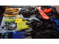 Diving gear, job lot