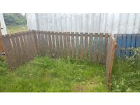 wooden slatted panels suitable for garden fencing