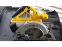Dewalt and circular saw and drill