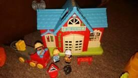 Happyland fire station sets